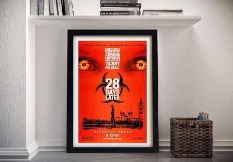 28 Days Later Framed Movie Poster Print