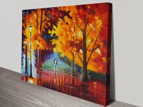 Autumnal Leonid Afremov Landscape Art
