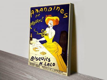 Amandines de Provence Biscuits Vintage Poster