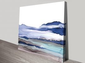 Bluescape Abstract Seascape Print on Canvas