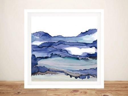 Framed Bluescape Chris Paschke Fine Art