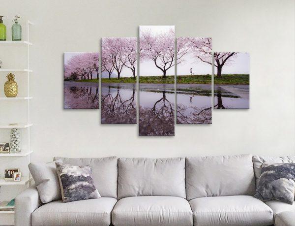 Cherry Blossom 5-Piece Art Set for Sale Online
