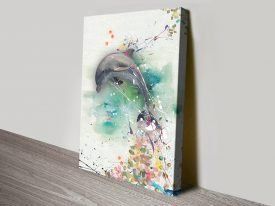 Colourful Dolphin Abstract Artwork