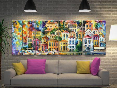 Dream Harbour Quad Split Panel Art Set