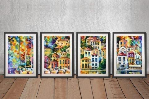 Framed Leonid Afremov Split Panel Art Online