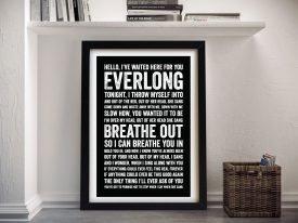 Foo Fighters Everlong Song Lyrics Art