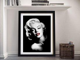 Marilyn Black & White Art with Red Splash
