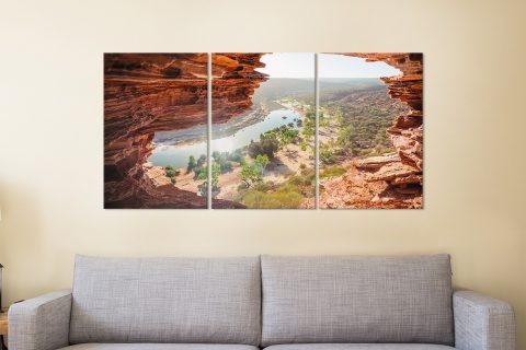 Natures Window Aussie Landscape Triptych Art