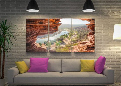 Buy Natures Window Triptych Canvas Art