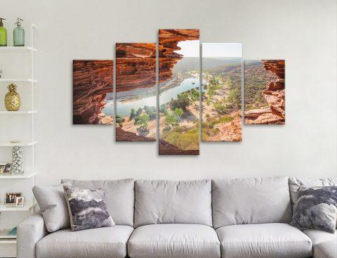 Affordable Aussie Landscape Split Panel Art