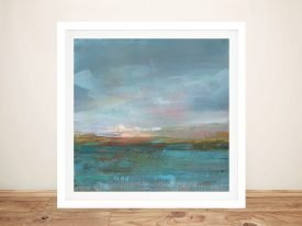Open Water Sunrise Framed Art on Canvas