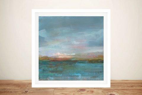 Open Water Sunrise Framed Art on Canvas