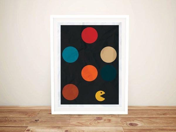 Framed Pacman Print Kids Art for Sale AU