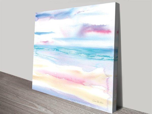 Pastel Morning Watercolour Seascape AU
