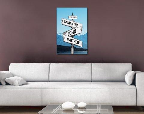 Mountain Signpost Custom Art Cheap Online
