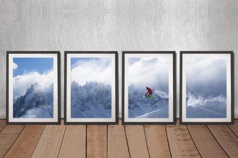 Framed Snowboarder Sports Fan Wall Art AU