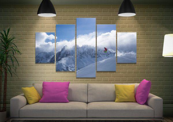 Snowboarder Split Diamond Canvas Set