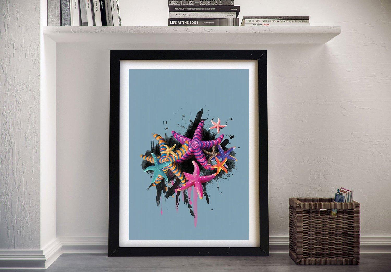 Starfish Abstract Wall Art by Karin Roberts