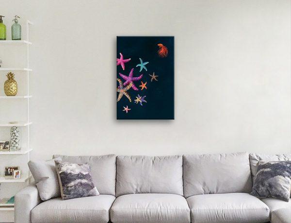 Stars Align Starfish Art by Karin Roberts