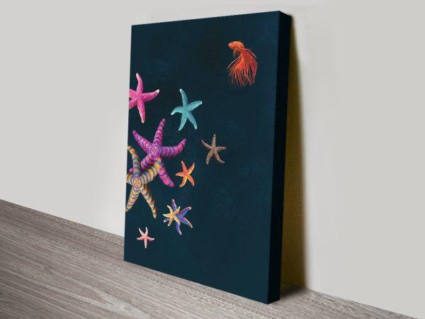 Multicoloured Starfish Abstract Art Online