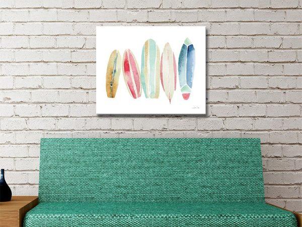 Ready to Hang Surfboard Wall Art AU