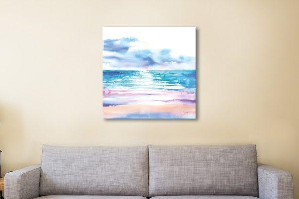 Ready to Hang Watercolour Seascape AU