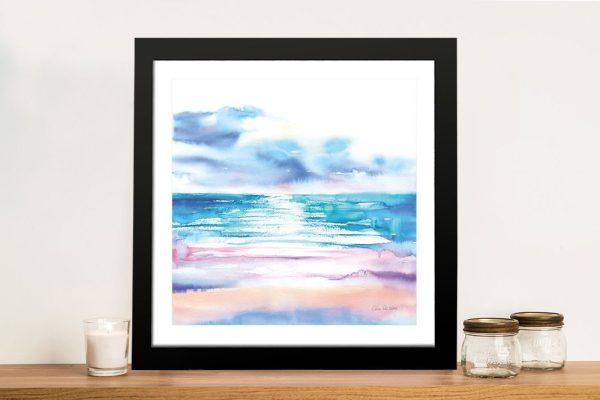 Turquoise Sea Framed Coastal Artwork