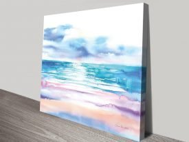 Turquoise Sea ll Stretched Canvas Art