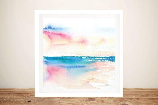 Vivid Coast Framed Aimee del Valle Print
