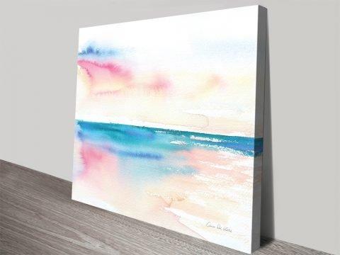 Vivid Coast Watercolour Seascape Print AU