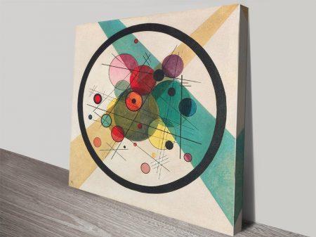 Circles in a Circle Kandinsky Abstract Art