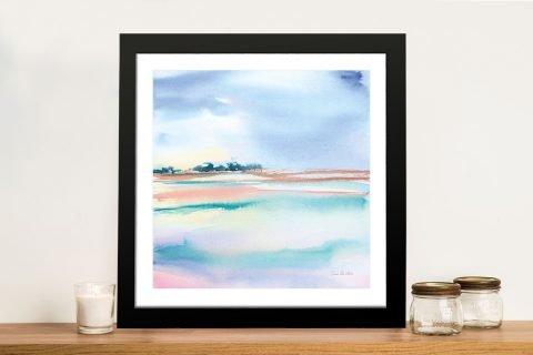Water & Sand Framed Pastel Seascape Art