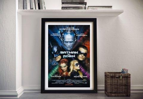 Framed Batman & Robin Movie Poster
