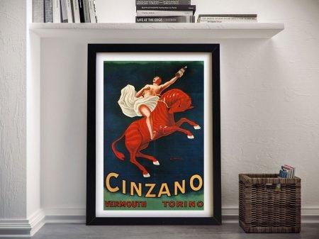 Buy a Cinzano Vermouth Framed Print