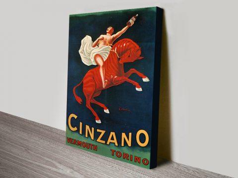 Cinzano Vermouth Advertising Poster Art