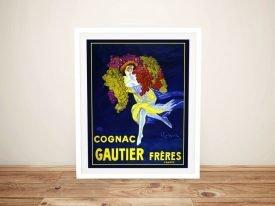Cognac Gautier Freres Framed Poster Print