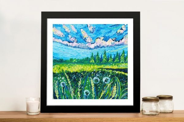 Colourful Framed Abstract landscape Print