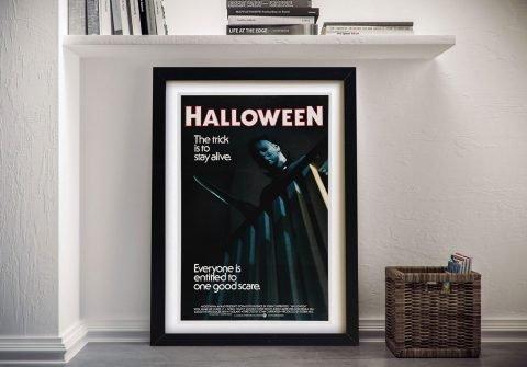 Framed Michael Myers Halloween Poster