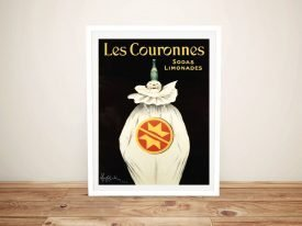 Framed Les Couronnes Soda Limonades Poster