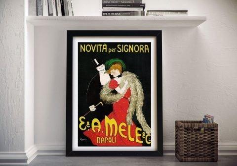 Framed Mele Napoli Poster Gift Ideas AU