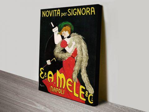 Mele Napoli Vintage Shop Poster Print