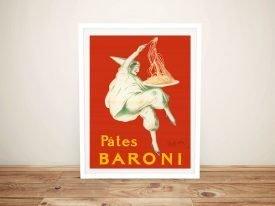 Buy a Framed Pates Baroni Vintage Poster