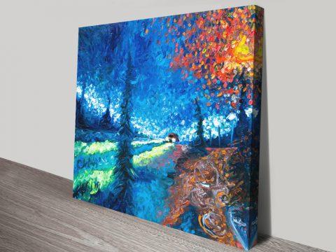Redflection Wintery Landscape Wall Art