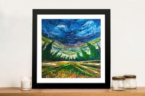Framed Fish-Eye Landscape Print for Sale