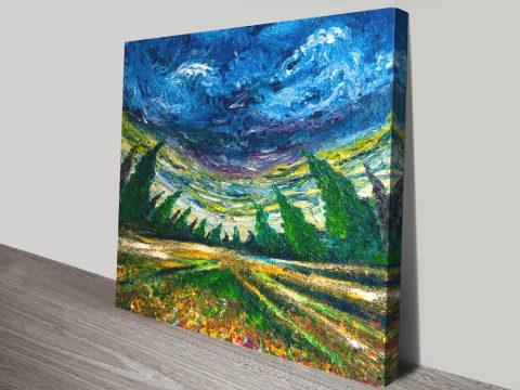 Sci-Fi Fish Eye Landscape Print on Canvas