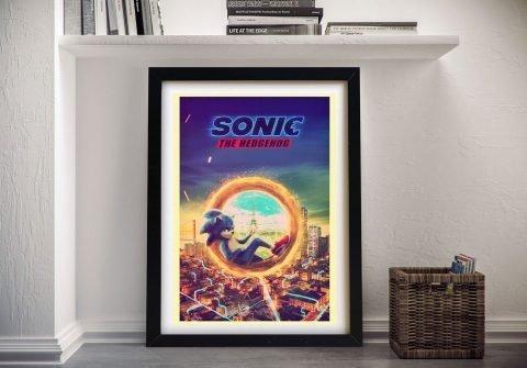 Buy a Framed Sonic Movie Poster Online