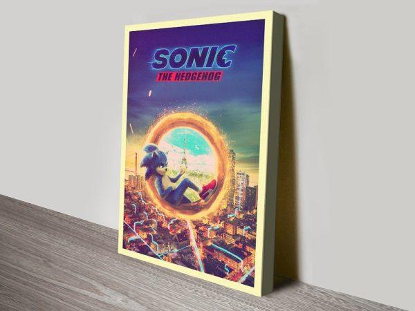 Sonic the Hedgehog Movie Poster Print
