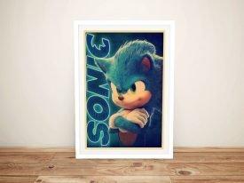 Retro Sonic the Hedgehog Poster