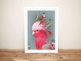 Abstract Galah Framed Aussie Wall Art