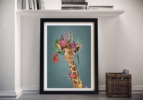 Framed Giraffe Print Unique Gift Ideas AU